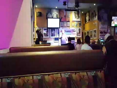 Karaoke bar singing SHERRY