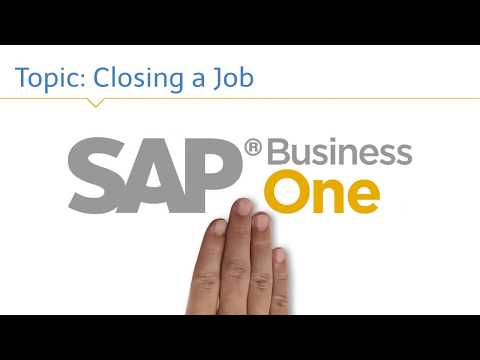 SAP Business One: Closing a Job