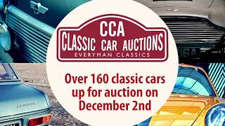 160 classic cars for auction at CCA's festive December Sale