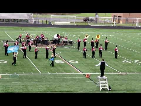 Owen County High School marching band at Tournament of Bands 2018 competition
