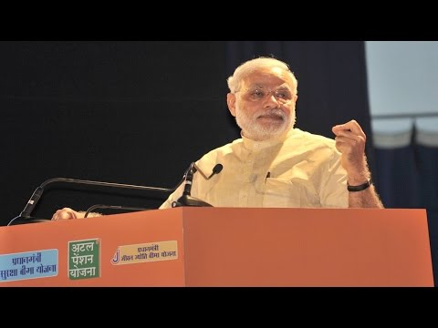 PM Narendra Modi's speech at the launch of three Social Security Projects | PMO