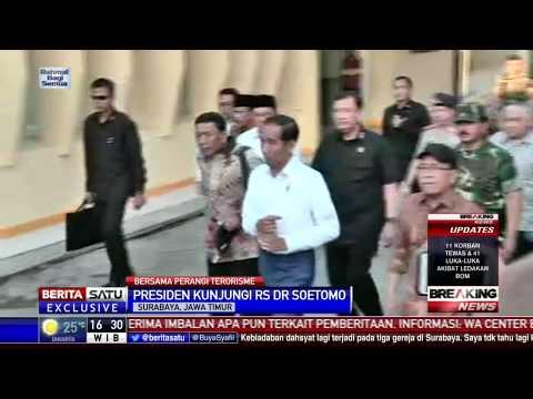 Presiden Jokowi Jenguk Korban Bom di RSUD Soetomo
