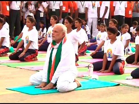 WATCH PM Modi performing Yoga at Rajpath