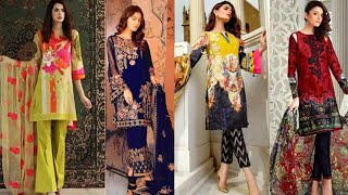 Designer Latest Printed Pakistani Linen suits Collection 2018 || Designer Linen Suits