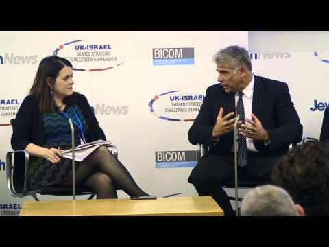 Yair Lapid in conversation at Jewish News UK-Israel Conference