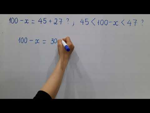 Toán lớp 2- Dạng tìm X là số trừ nâng cao : 100 - x = 45 + 27 ? Các con lớp 3,4,5 tham khảo nhé??