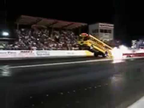 Jet Engine Bus Pulling Out A Wheelie