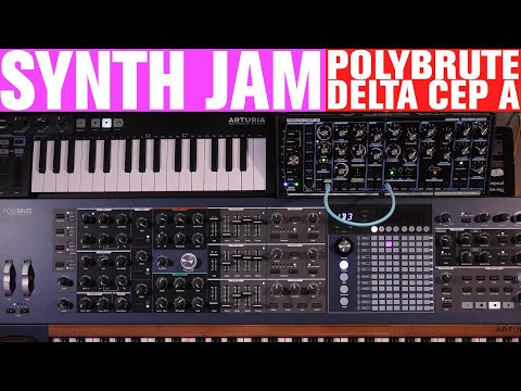 Polybrute and Delta CEP A - Friday FUN Synth Jam