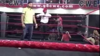 Indian Cricket Player Harbhajan Singh Fighting with Wrestling man