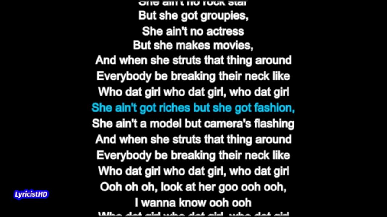 Letra de Who dat girl de Akon - Letra