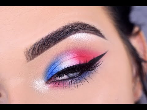 Fourth of July Eye Makeup Tutorial   Red White & Blue 🇺🇸