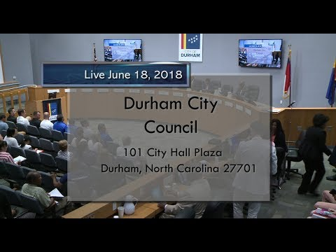 Durham City Council June 18, 2018