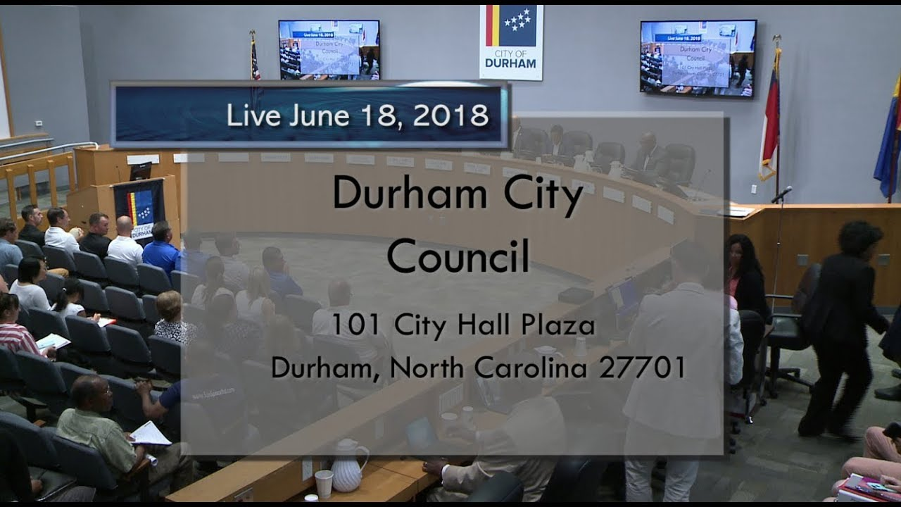 Durham City Council June 18 2018 Youtube