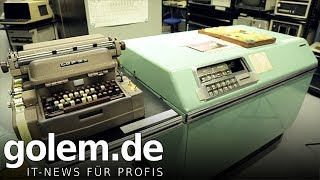 Röhrencomputer LGP 30 von 1958 angesehen