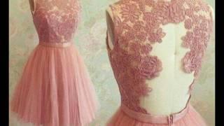 Hermosos vestidos color rosa palo, color de tendencia