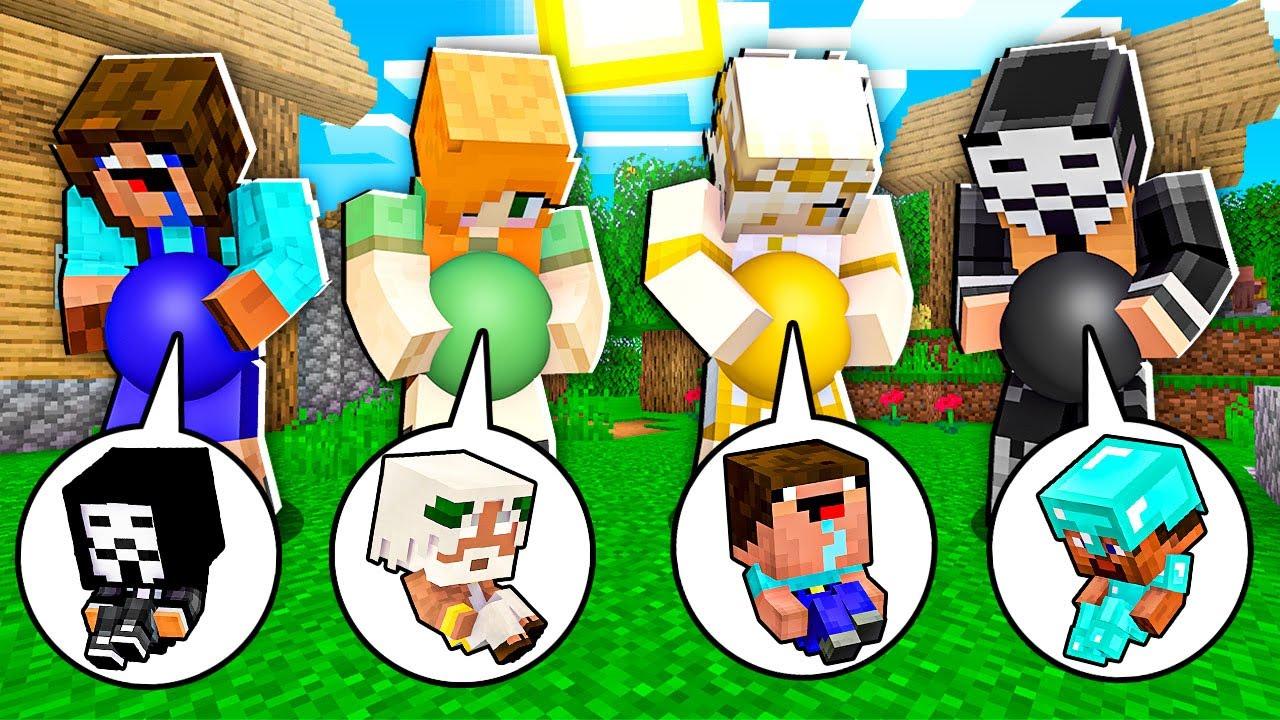 Download BABY BORN SWAP CHALLENGE! Minecraft NOOB vs PRO! 100% TROLLING HACKER GOD FAMILY KID CHILD EXCHANGE
