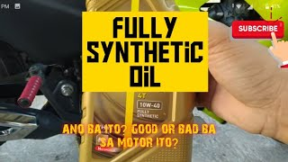 Fully synthetic oil good or bad ? (part 1)