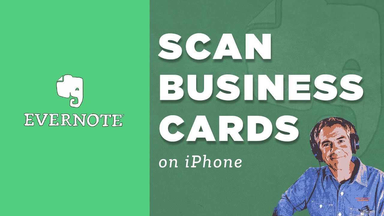 Evernote: How to Scan Business Cards using iPhone - YouTube
