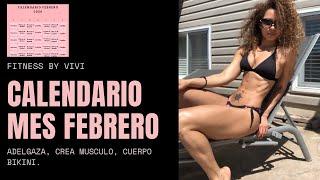 Calendario de Entrenamiento/ Presentacion del Calendario mes de octubre/ Fitness by Vivi