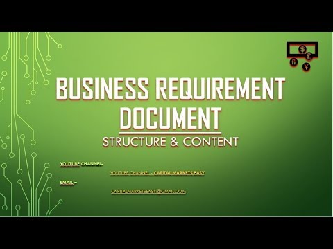 Business Requirement Document - BRD - Structure & Content