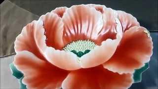 Aritayaki Fukagawa china Lotus 有田焼 深川製磁 皿 蓮