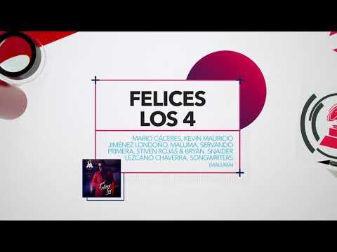 Canción del Año   Nominados al Latin GRAMMY