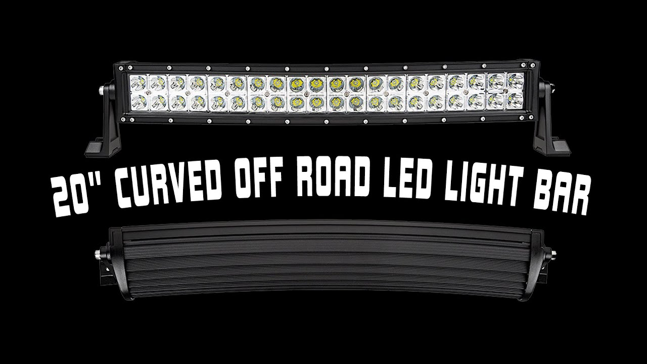 20 off road curved led light bar youtube mozeypictures Choice Image