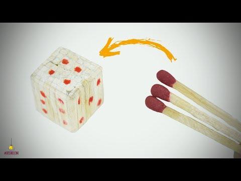 DIY Miniature Dice (Made with Match Sticks!) DICE/LUDO GAME | Matchstick Art & Craft by F8ik