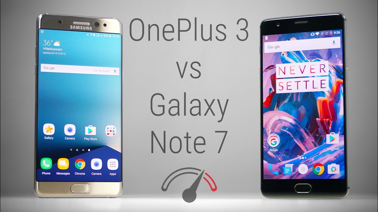 Galaxy Note 7 vs OnePlus 3 Speedtest - Flagship Killed!