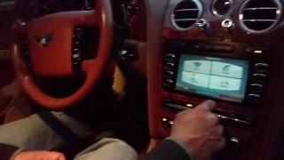 2005 Bentley Continental In-Dash Touchscreen GPS