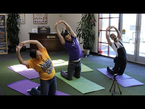 Fruit + Office + Yoga Facebook LIVE series: 15 minute desk stretch