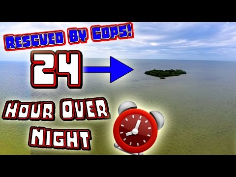 RESCUED BY COPS!! 24 HOUR OVERNIGHT CHALLENGE ON A DESERTED ISLAND GONE WRONG