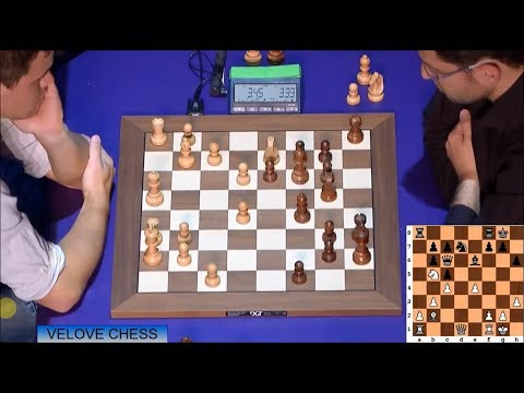 AMAZING SACRIFICE MOVE E5!!! MAGNUS CARLSEN VS LEVON ARONIAN - BLITZ CHESS 2016