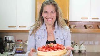 NOW - Like & Share - עוגת גבינה עם תותים -  אלונה זוהר