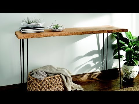 Natural Beauty - Console Table Tutorial   Made With Love. Finished With Minwax.