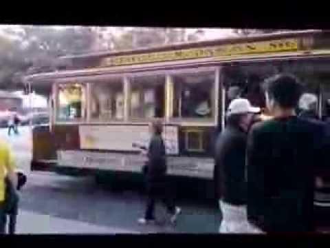 Гуляем по Сан-Франциско с Машей, катаемся на старинном трамвайчике. // California 59.