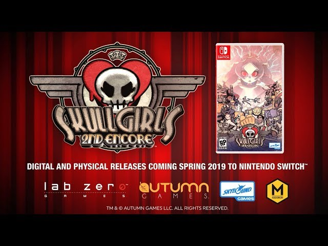 Skullgirls 2nd Encore Pre-Orders now Available for Nintendo