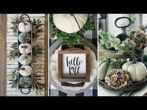 ❤DIY Rustic Farmhouse style Fall dining tablescape Ideas❤ | Fall Home decor| Flamingo Mango
