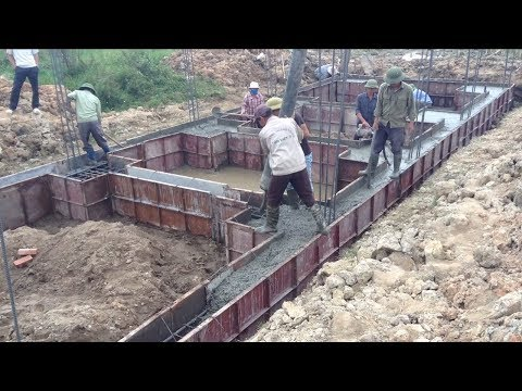 Amazing Construction Foundation Using Ready Mixed Concrete,