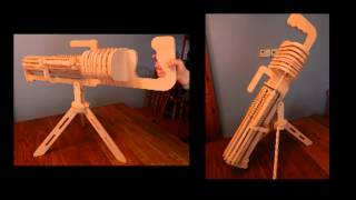 Rubberband Gatling Gun Machine Gun Plans  輪ゴム銃マシンガン