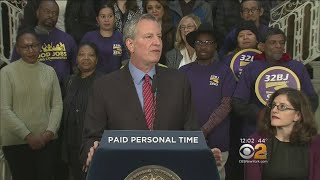 Mayor Wants 10 Days Of Paid Personal Time For NYC Workers