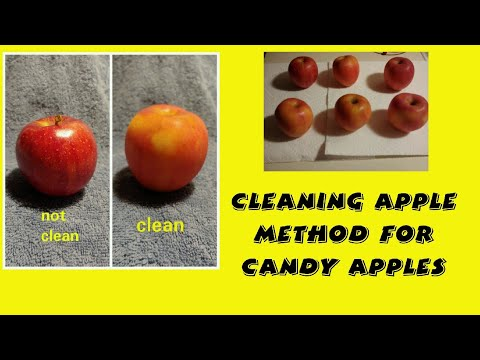 Cleaning Apple Method for candy apples 🍎🍎