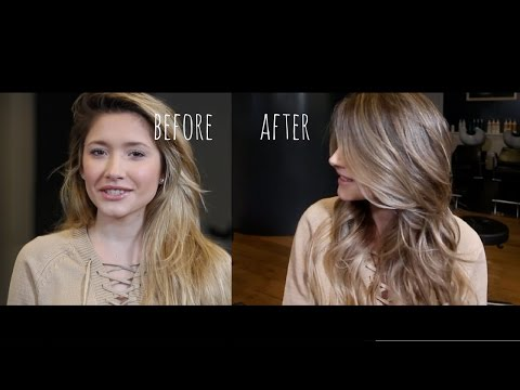 BLONDE TO BRUNETTE - REVERSE BALAYAGE - HAIR COLOUR CORRECTION