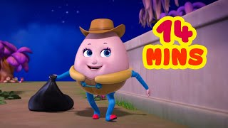 Humpty Dumpty Littering Too Much and More | Nursery Rhymes for Children | Infobells
