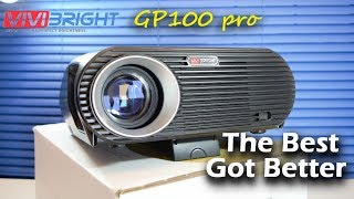 ViviBright GP100 Pro Projector - Best 720p WXGA LED Projector 2017