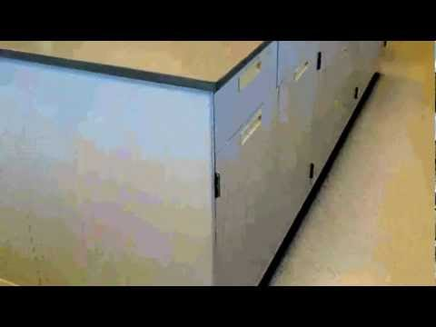 22' Fisher Hamilton Laboratory Furniture Island with Epoxy Resin Counter Tops