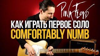 Как играть Pink Floyd Comfortably Numb первое соло на гитаре - Уроки игры на гитаре Первый Лад