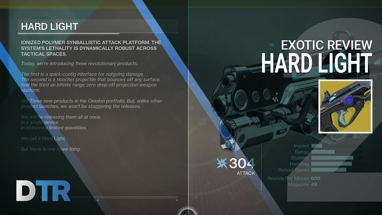 Destiny 2 Hard Light Exotic Review