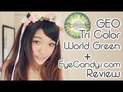 7f612c13cbf ♢♢BEAUTY♢♢』GEO Tri-Color World Green + EyeCandys.com Review ...