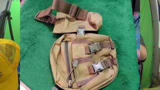 Army Tactical Waist Bag with Bottle Holder, Belt Bag for Hiking, Fishing, Running, Outdoor Sporting